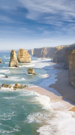 Melbourne, 4k, HD wallpaper, Australia, Best Beaches in the World, Great Ocean Road, sea, ocean, World's best diving sites (vertical)