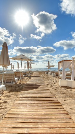 Ushuaia Beach Hotel, Ibiza, Best Beaches in the World, tourism, travel, resort, vacation, beach, sand (vertical)