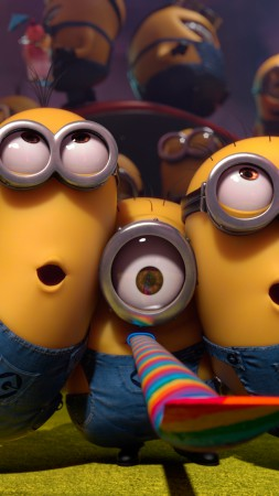 Minions, cartoon, Best Animation Movies of 2015, yellow, funny (vertical)