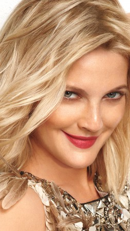 Drew Barrymore, Most Popular Celebs in 2015, actress, model, blonde,  (vertical)