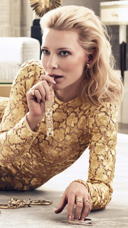 Cate Blanchett, Most Popular Celebs in 2015, actress, blonde, dress (vertical)
