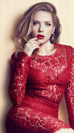 Scarlett Johansson, Most Popular Celebs in 2015, Actress, blonde, dress (vertical)