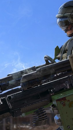 soldier, guns, tank (vertical)