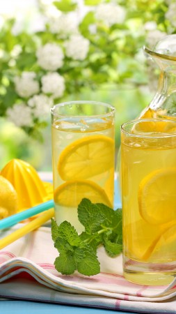 lemonade, drinks, cocktails, juice, summer, sun, , fruit, lemon, ice, honey (vertical)