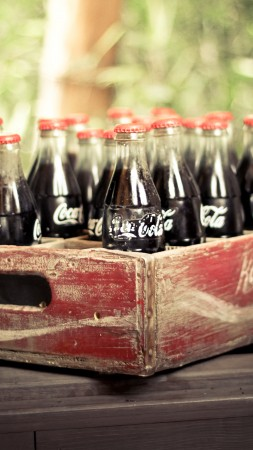 Coca-Cola, drink, soda, box, vintage, retro (vertical)
