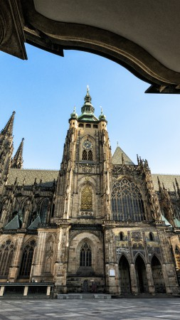 Cathedral of St Vitus, Prague, Castle, Czech Republic, travel, exterior, Gothic, Tours (vertical)