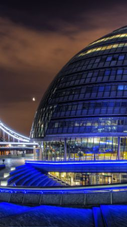 City Hall, London, England, tourism, travel (vertical)