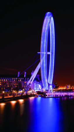 London Eye, England, Travel. Tourism, Night