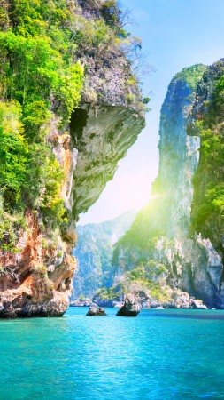 Thailand, 5k, 4k wallpaper, 8k, Pattaya, beach, ocean, mountains, World's best diving sites (vertical)