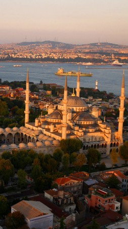 Blue Mosque, Istanbul, Turkey, Tourism, Travel (vertical)