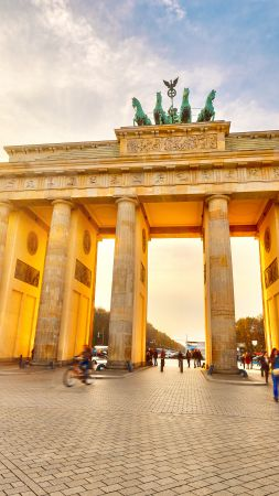 Brandenburg Gate, Berlin, Germany, Tourism, Travel (vertical)