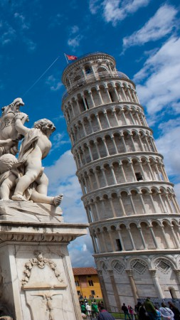 Leaning Tower of Pisa, Italy, Travel, Tourism (vertical)