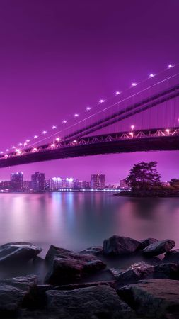 Manhattan Bridge, New York, Tourism, Travel (vertical)