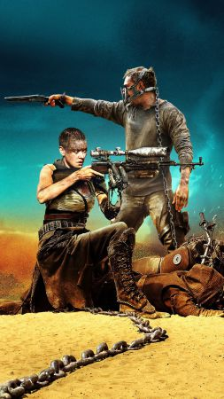 Mad Max: Fury Road, best movies of 2015, Tom Hardy, Charlize Theron, stills (vertical)