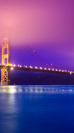 Golden Gate Bridge, San Francisco, Tourism, Travel (vertical)