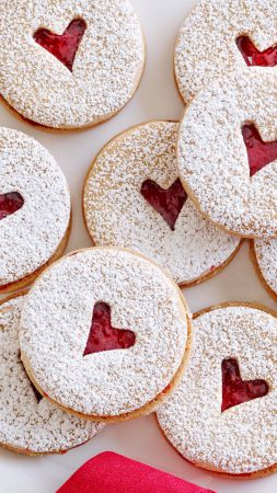 Cookies, heart (vertical)