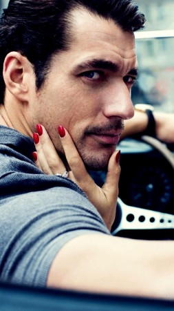 David Gandy, Top Fashion Male Models, car (vertical)
