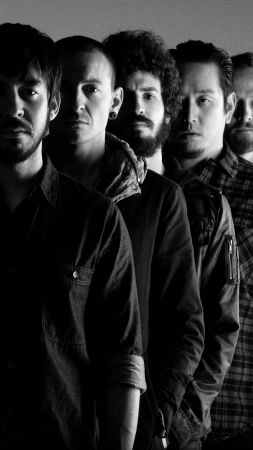 Linkin Park, Top music artist and bands, Chester Bennington, Mike Shinoda, Brad Delson, Dave Farrell (vertical)