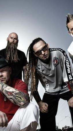 Five Finger Death Punch, Top music artist and bands, Ivan Moody, Zoltan Bathory, Jeremy Spencer, Jason Hook, Chris Kael (vertical)