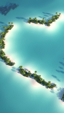 Maldives, 5k, 4k wallpaper, Indian Ocean, Best Beaches in the World, island, palms, love (vertical)