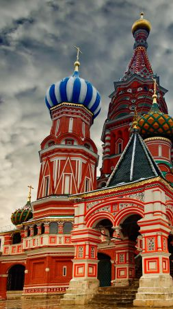 St. Basil's Cathedral, Moscow, Russia, Red Square (vertical)
