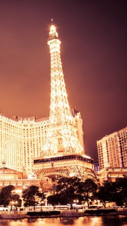 Las Vegas, USA, night, travel, tourism (vertical)