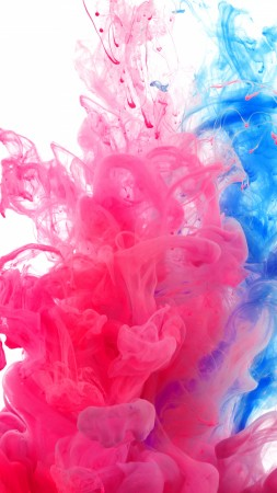 Holi, 4k, 5k wallpaper, water, India, public holiday, paint, underwater, red, blue, live wallpaper, live photo (vertical)