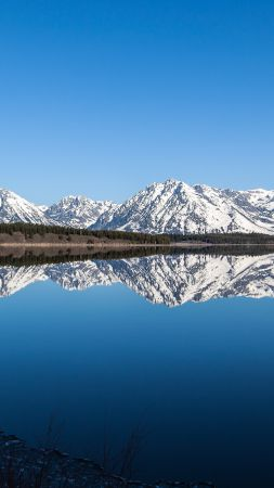 Grand Teton National Park, mountains, river, reflection, sky