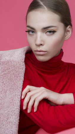 Kasia Bielska, Top Fashion Models, model, pink (vertical)