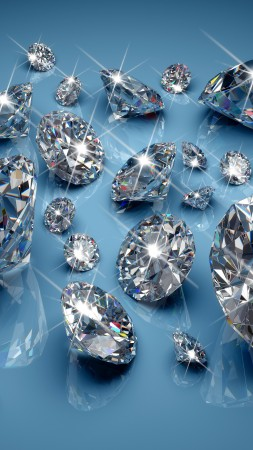 diamonds, blue, light, shine