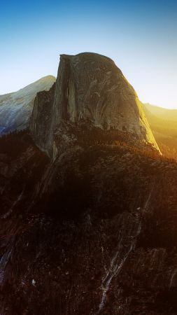 Yosemite, Half Dome, California, Sunrise, mountain