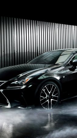 Lexus RC 300h, coupe, black. (vertical)