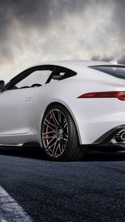 jaguar F type, coupe, white, startech. (vertical)