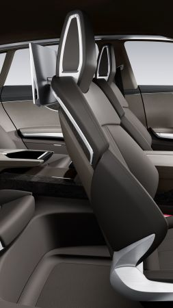 Audi prologue, universal, hybrid, grey, interior. (vertical)