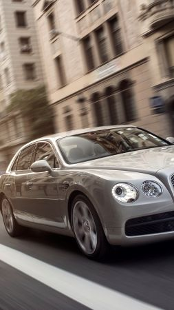Bentley Flying Spur, sedan, luxery, grey. (vertical)