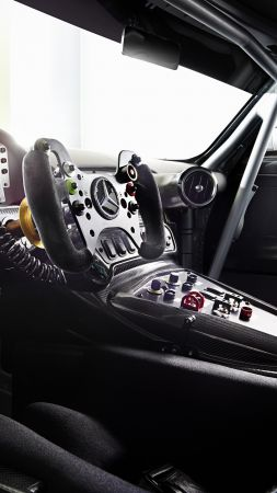 Mercedes AMG GT3, hypercar, coupe, interior. (vertical)