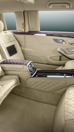 Mercedes Maybach S600 Pullman, sedan, interior, luxery. (vertical)