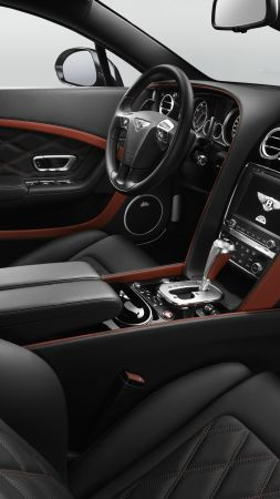 bentley continental gt speed, coupe, luxery, interior (vertical)