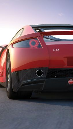 GTA Spano, supercar, coupe, red (vertical)