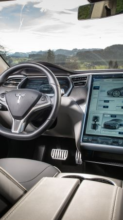 Tesla model x, electric, coupe, luxery, interior (vertical)
