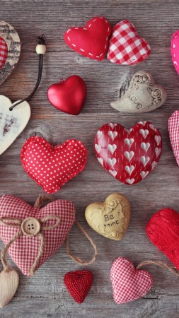 Valentine's Day, hearts, love, celebration (vertical)