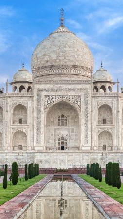 Taj Mahal, India, temple, castle, travel, tourism (vertical)