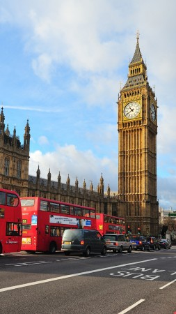 London, England, Big Ben, Westminster Abbey, city, bus, travel, tourism (vertical)