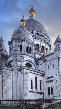 Paris, France, Montmartre, basilique, travel, tourism (vertical)