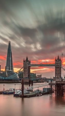 London, England, Europe, travel, tourism, sunset (vertical)