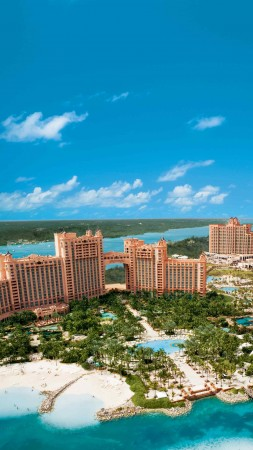 Bahamas, island, resort, hotel, sea, ocean, travel, booking, pool, beach, palm, vacation, sky, blue