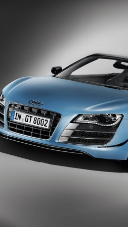Audi R8 GT Spyder, supercar, cabriolet, buy, rent, review (vertical)
