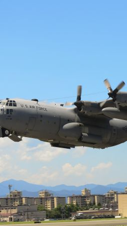 C-130 Hercules, military transport aircraft, US Army, U.S. Air Force (vertical)
