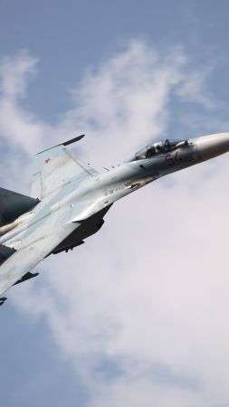 Su-27, fighter, Russian Army (vertical)