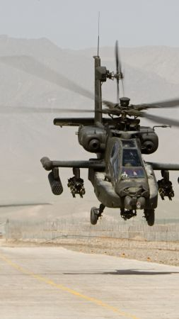 AH-64, Apache, attack helicopter, US Army, U.S. Air Force (vertical)